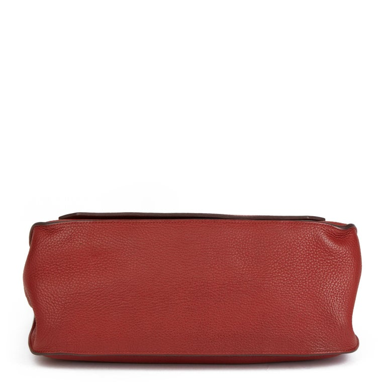 2009 Hermès Rouge H Togo Leather Jypsiere 37  For Sale 1