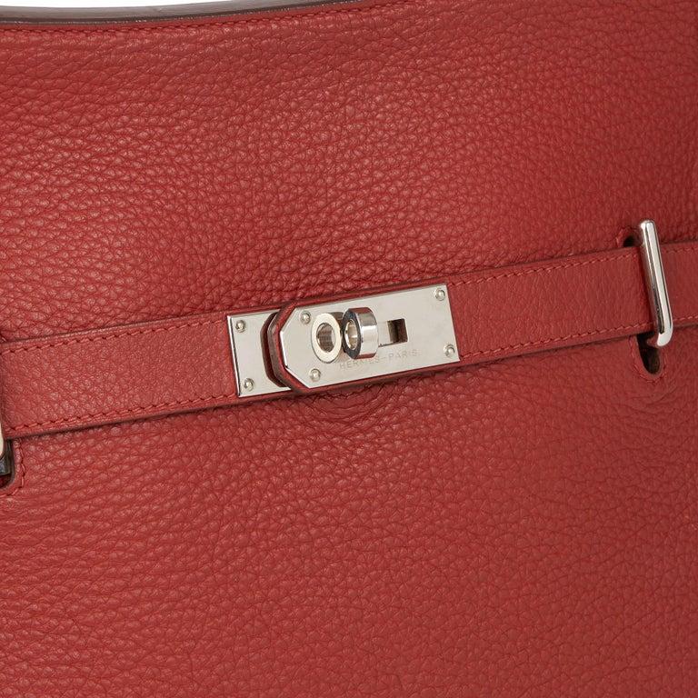 2009 Hermès Rouge H Togo Leather Jypsiere 37  For Sale 2