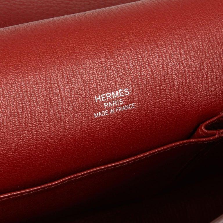 2009 Hermès Rouge H Togo Leather Jypsiere 37  For Sale 3