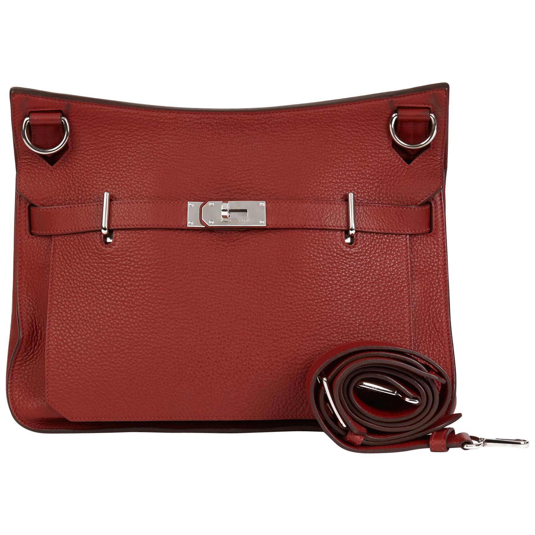 2009 Hermès Rouge H Togo Leather Jypsiere 37