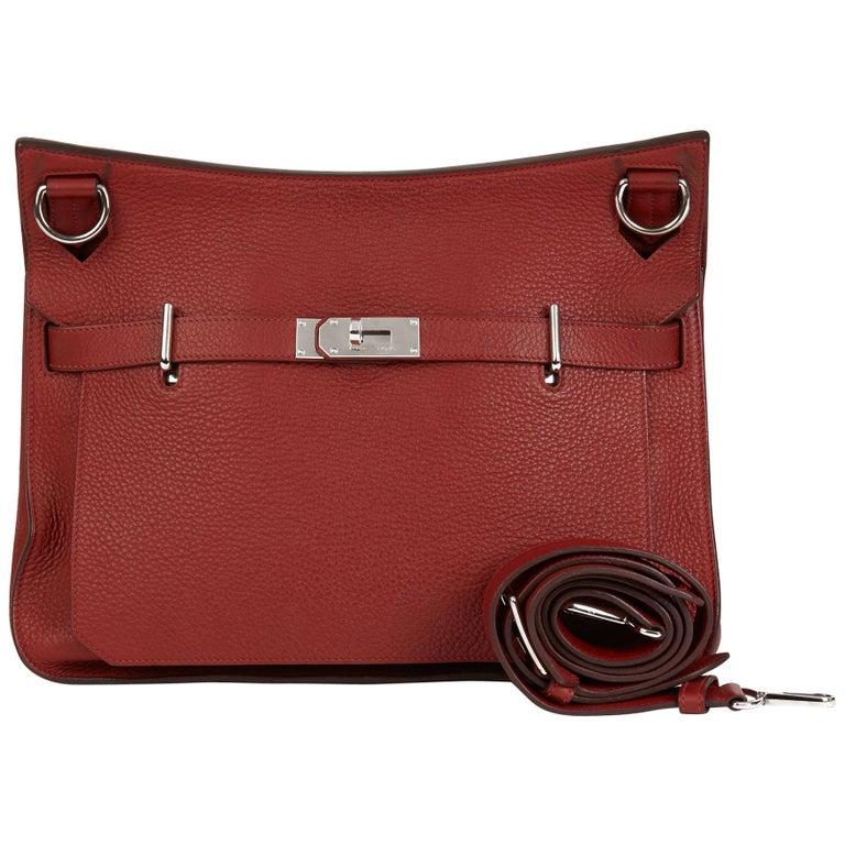 2009 Hermès Rouge H Togo Leather Jypsiere 37  For Sale