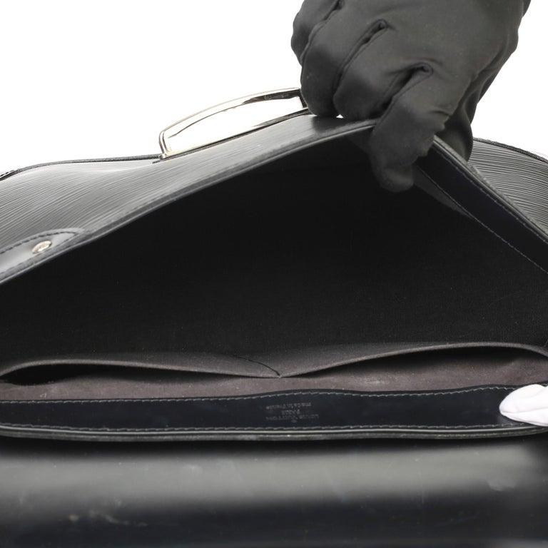 2009 Louis Vuitton Black Epi Leather & Black Calfskin Leather Beverly Bag For Sale 7