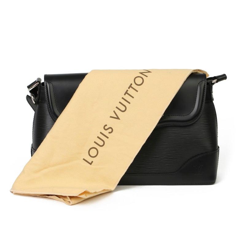 2009 Louis Vuitton Black Epi Leather & Black Calfskin Leather Beverly Bag For Sale 8