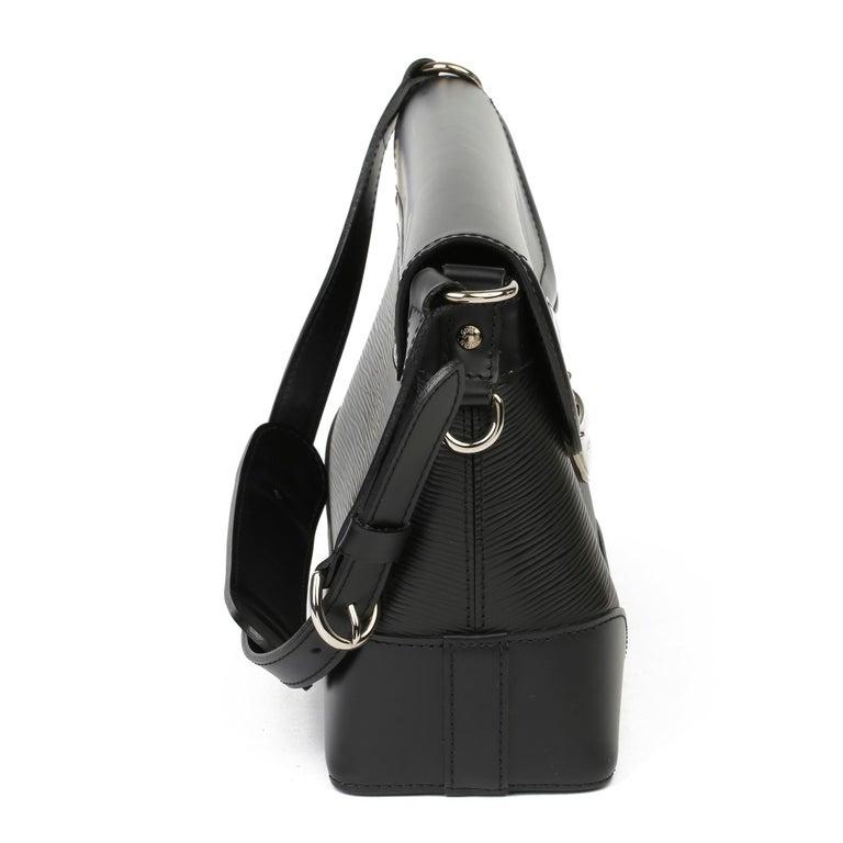 2009 Louis Vuitton Black Epi Leather & Black Calfskin Leather Beverly Bag In Good Condition For Sale In Bishop's Stortford, Hertfordshire