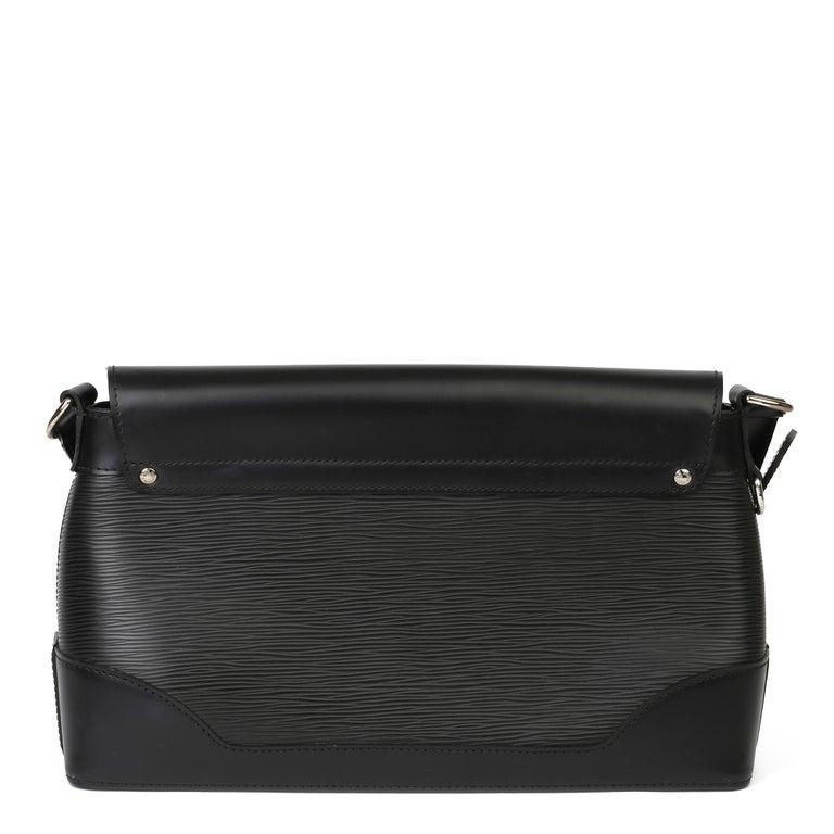 2009 Louis Vuitton Black Epi Leather & Black Calfskin Leather Beverly Bag For Sale 1
