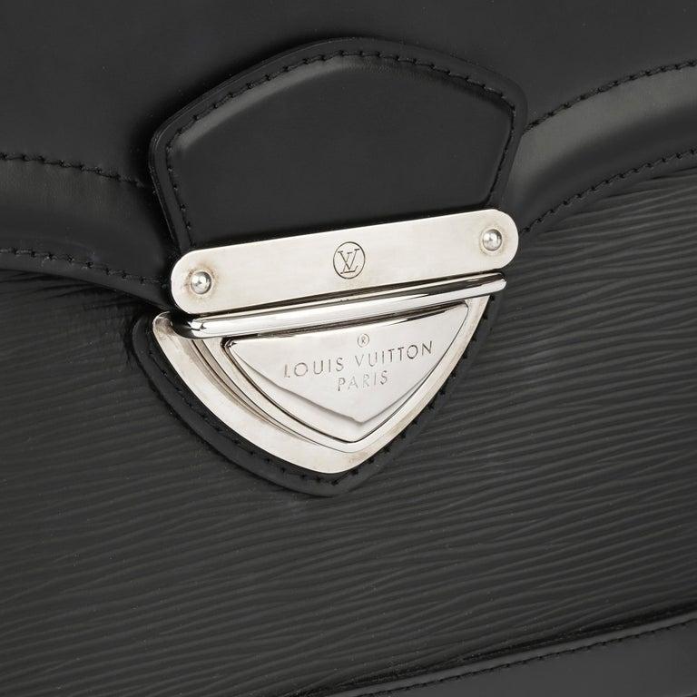 2009 Louis Vuitton Black Epi Leather & Black Calfskin Leather Beverly Bag For Sale 4