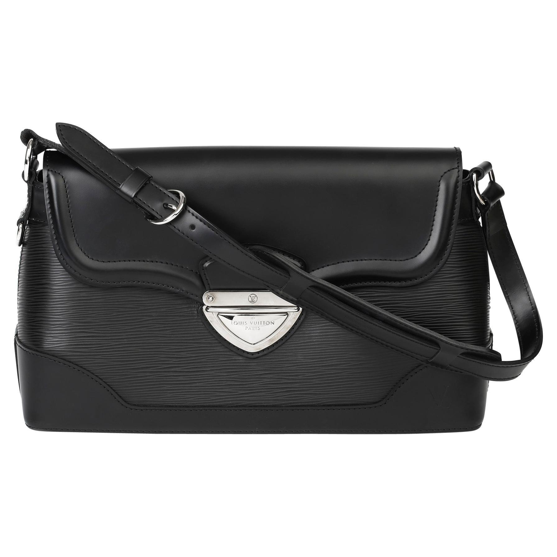 2009 Louis Vuitton Black Epi Leather & Black Calfskin Leather Beverly Bag