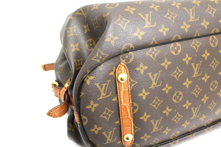 Black 2009 Louis Vuitton Monogram Leather Mahina Limited Edition Bag For Sale