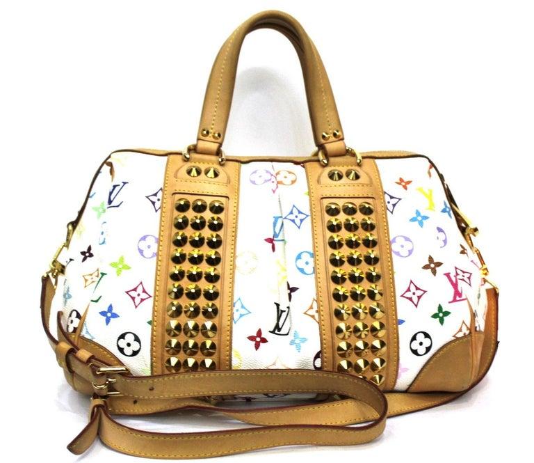 Beige 2009 Louis Vuitton Multicolor Courtney Bag For Sale