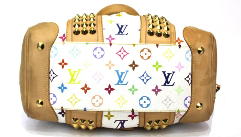 2009 Louis Vuitton Multicolor Courtney Bag In Excellent Condition For Sale In Torre Del Greco, IT
