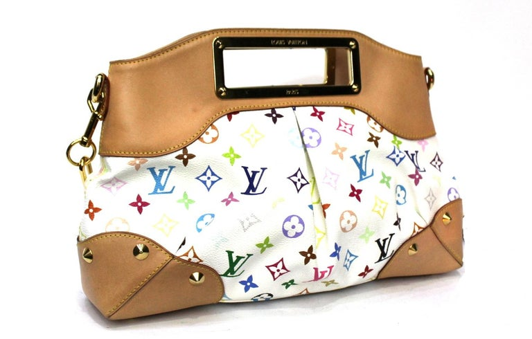 Louis Vuitton Judy model multicolor pattern and golden hardware.  Possibility to wear it either by hand or on the shoulder. Very good condition.