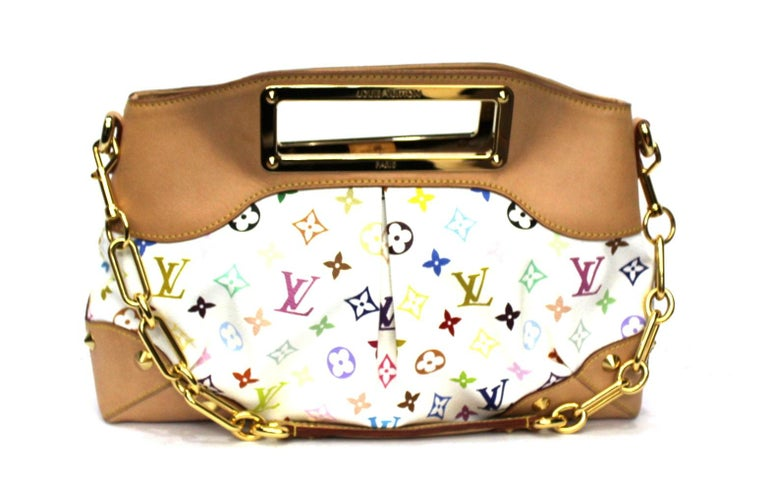 2009 Louis Vuitton Multicolor Leather Judy Bag In Excellent Condition For Sale In Torre Del Greco, IT