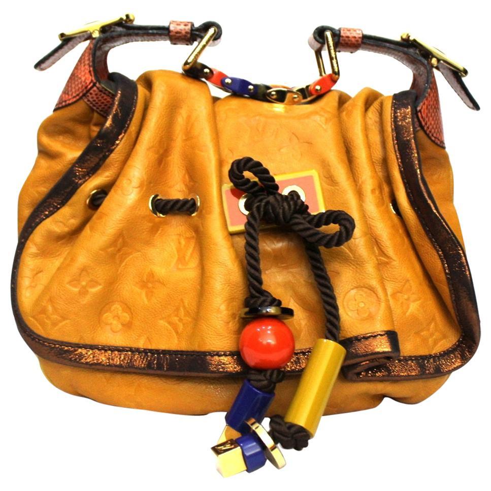 2009 Louis Vuitton Yellow Monogram Kalahari Epices Pm Limited Edition Bag