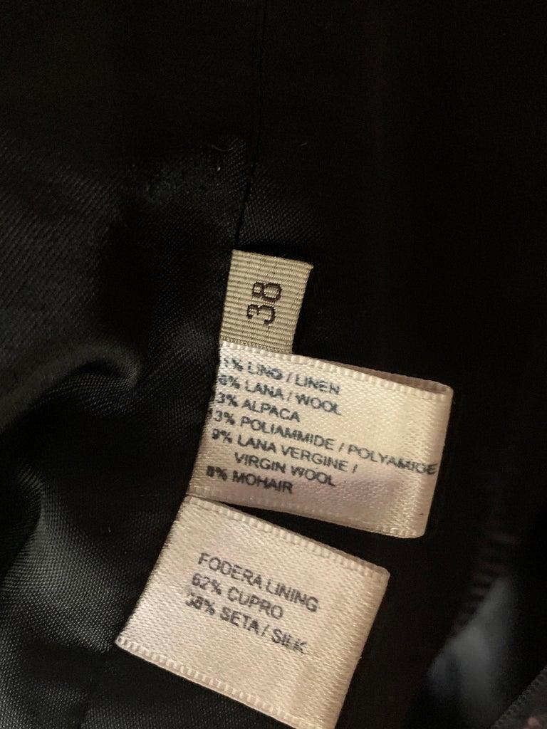 2009 Runway Bottega Veneta Black and Pink Strapless Mohair Boucle Dress For Sale 4