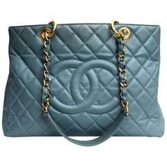 2009\2010 Chanel Light Blue Leather Gst Bag
