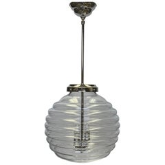 2000s Large Italian Jetson Murano Hand Blown Glass Pendant Light, Quantity