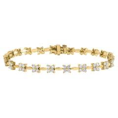 2.01 Carat Brilliant Cut Diamond Tennis Bracelet in 14K Yellow Gold