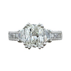 2.01 Carat Diamond Cushion Cut G/VVS2 Gold Engagement Ring