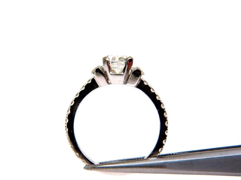 Women's or Men's 2.01 Carat GIA Cushion Cut Diamond Ring Platinum For Sale