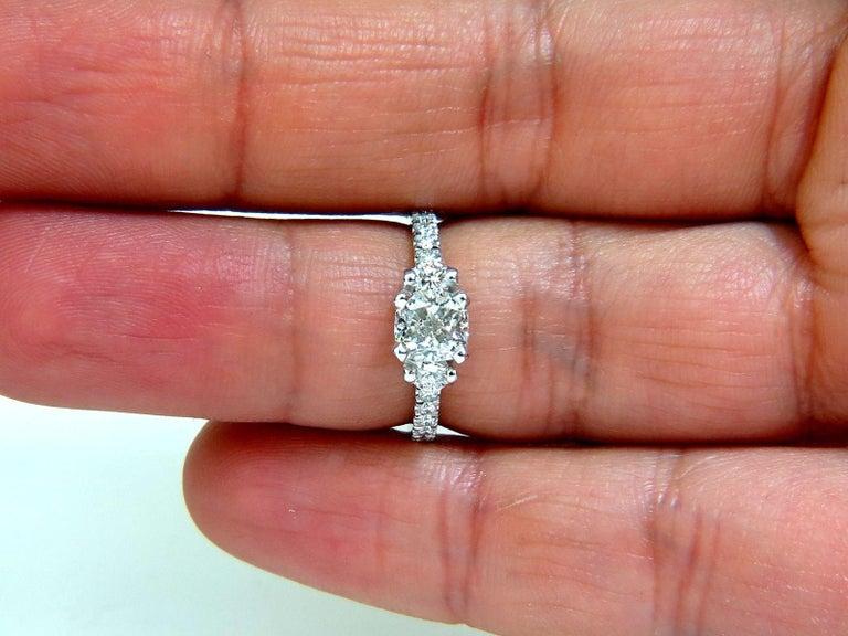 2.01 Carat GIA Cushion Cut Diamond Ring Platinum For Sale 1