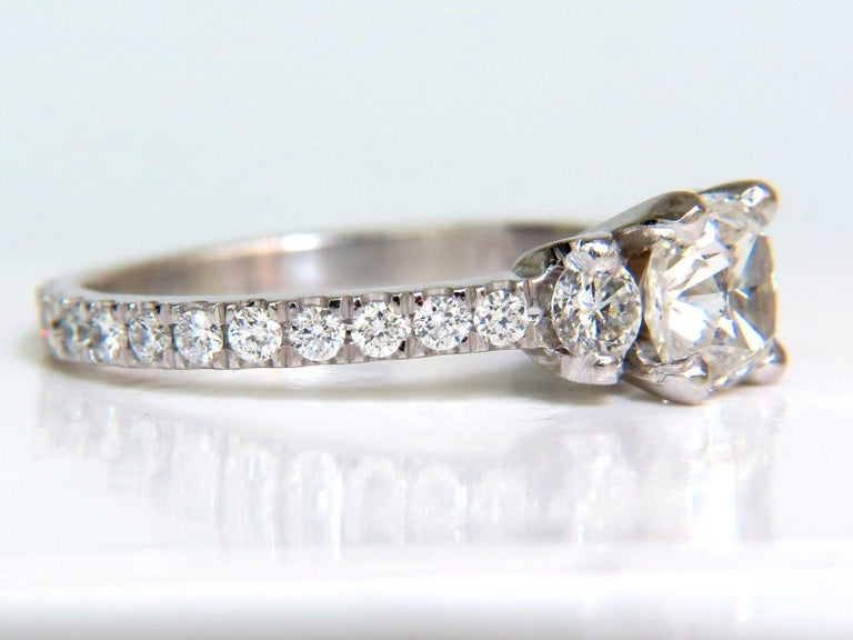 2.01 Carat GIA Cushion Cut Diamond Ring Platinum For Sale 4