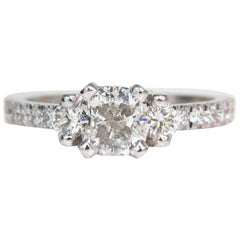 2.01 Carat GIA Cushion Cut Diamond Ring Platinum