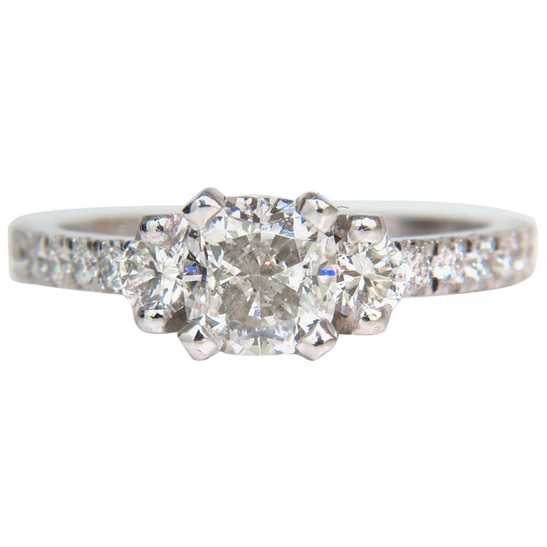 2.01 Carat GIA Cushion Cut Diamond Ring Platinum For Sale