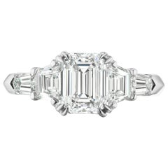 2.01 Carat GIA FVS1 Emerald Cut with Trapezoids & Tapered Bullets