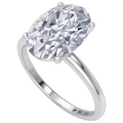 2.01 Carat Oval Cut Diamond Engagement Ring 14 Karat Gold