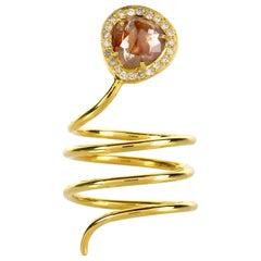 2.01 Carat Rough Diamond 18 Karat Gold Ring