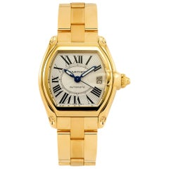 201 Gm 18 Karat Solid Yellow Gold Cartier Roadster Large Model Automatic Watch