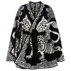 2010 Alexander McQueen Knitted Wool Poncho Coat Jacket