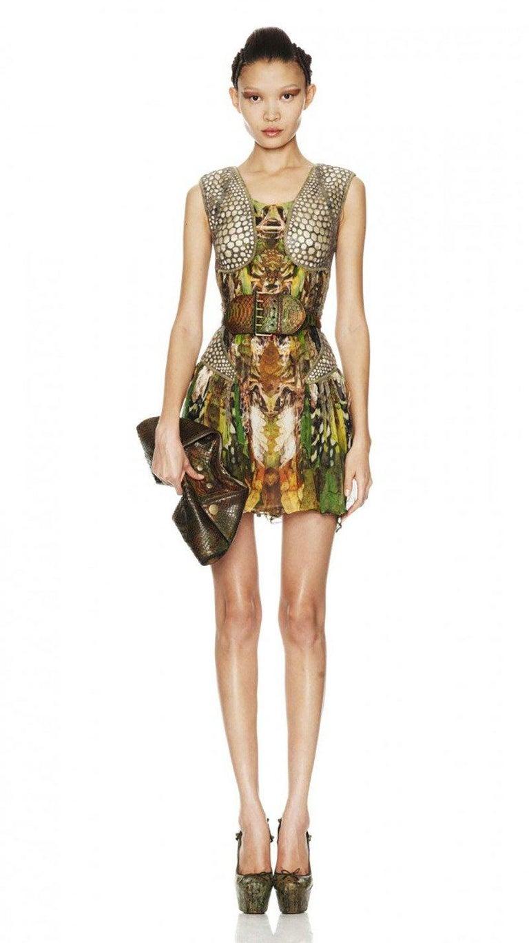2010 Alexander Mcqueen Plato S Atlantis Silk Dress With