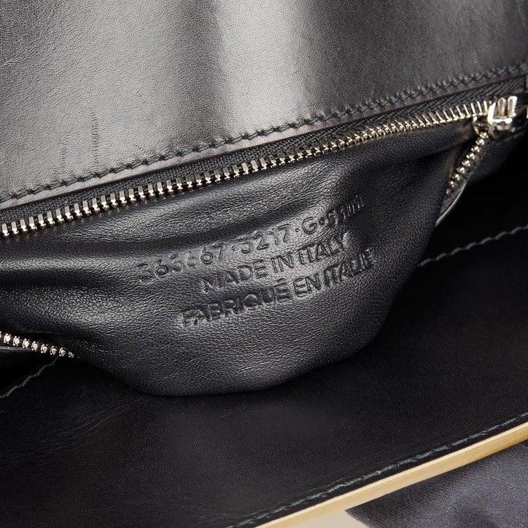 2010 Balenciaga Olive Green Alligator Leather Small Cable Shopper For Sale 3