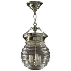 2010 Beehive Murano Glass Bell Jar Pendant Light