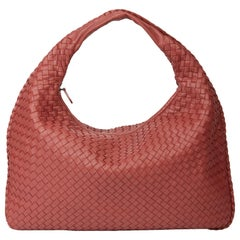 2010 Bottega Veneta Burnt Red Woven Lambskin Medium Veneta Bag