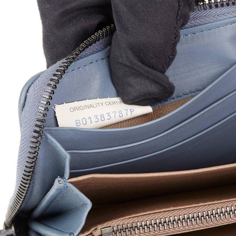 2015 Bottega Veneta Light Tourmaline Woven Calfskin Leather Zip Around Wallet  3