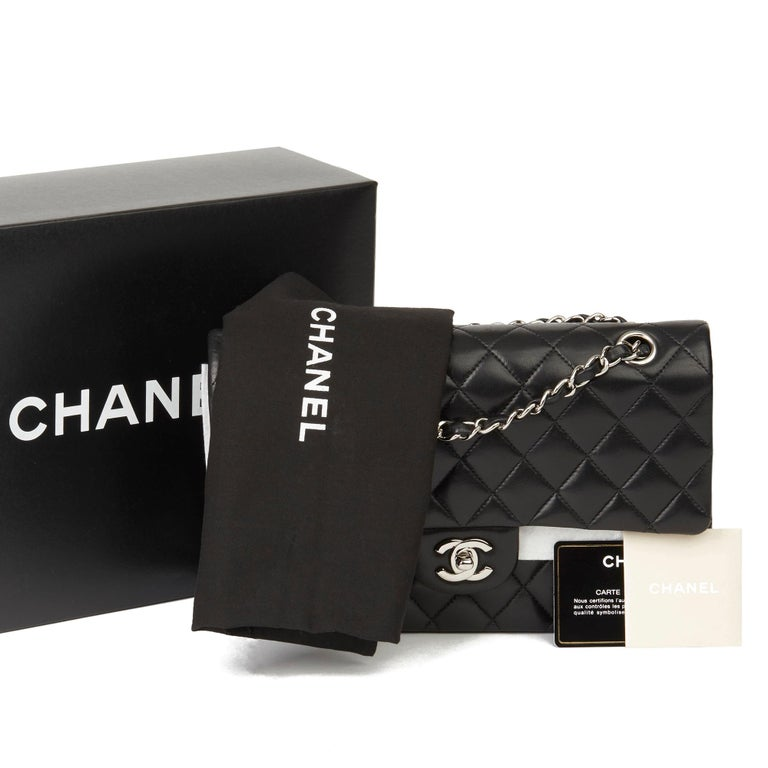 2010 Chanel Black Quilted Lambskin Medium Classic Double Flap Bag  8