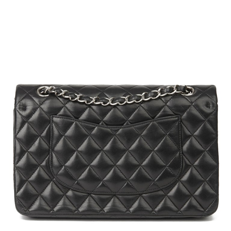 2010 Chanel Black Quilted Lambskin Medium Classic Double Flap Bag  1