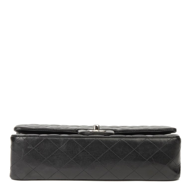 2010 Chanel Black Quilted Lambskin Medium Classic Double Flap Bag  2
