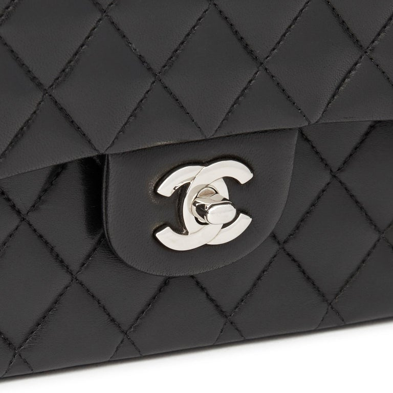 2010 Chanel Black Quilted Lambskin Medium Classic Double Flap Bag  3