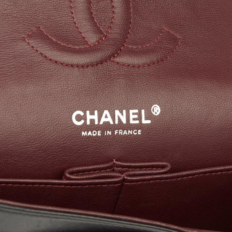 2010 Chanel Black Quilted Lambskin Medium Classic Double Flap Bag  5