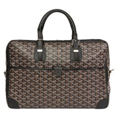 2010 Goyard Black Chevron Coated Canvas Ambassade MM
