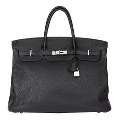 2010 Hermès Black Togo Leather Birkin 40cm