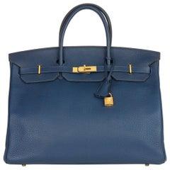 2010 Hermès Bleu de Malte Clemence Leather Birkin 40cm