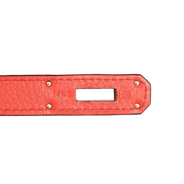 2010 Hermes Bougainvillier Togo Leather Kelly 35cm Retourne For Sale 3