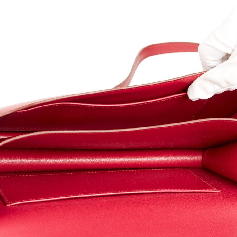 2010  Hermès Rubis Tadelakt Leather Constance Elan 5