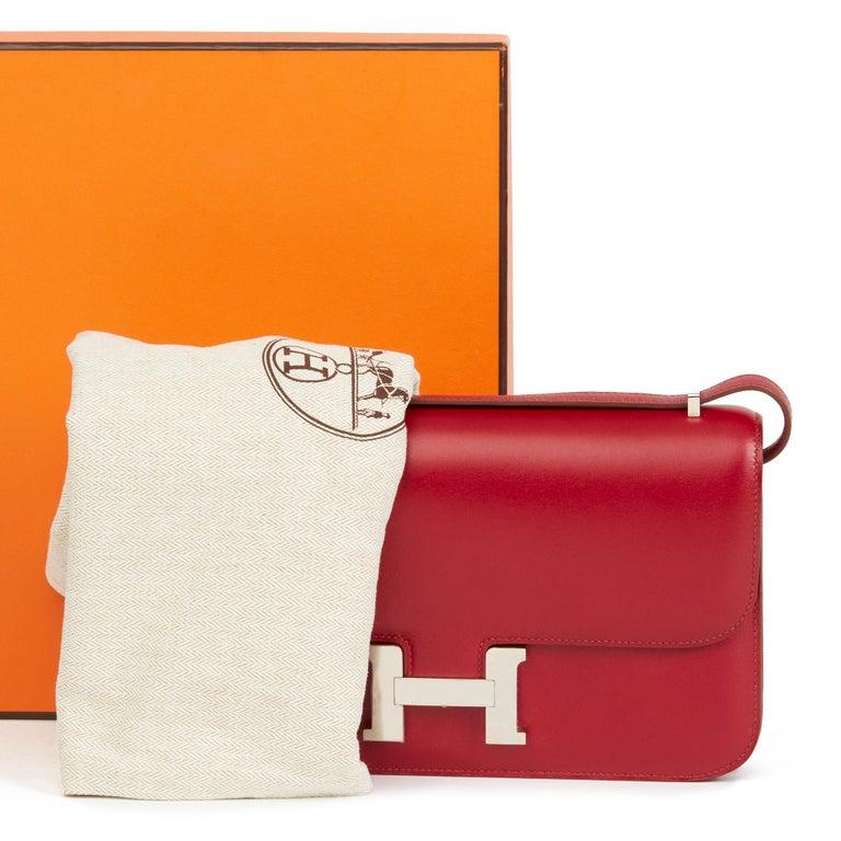 2010  Hermès Rubis Tadelakt Leather Constance Elan 6