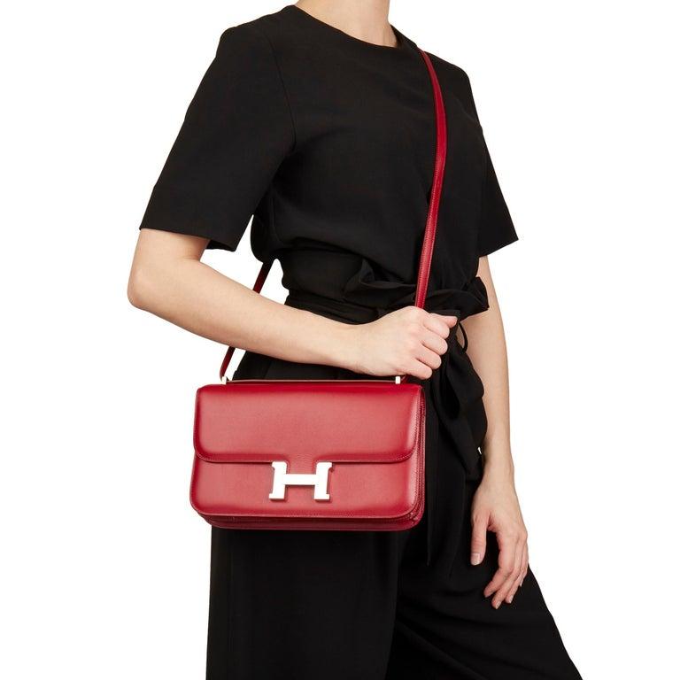 2010  Hermès Rubis Tadelakt Leather Constance Elan 7