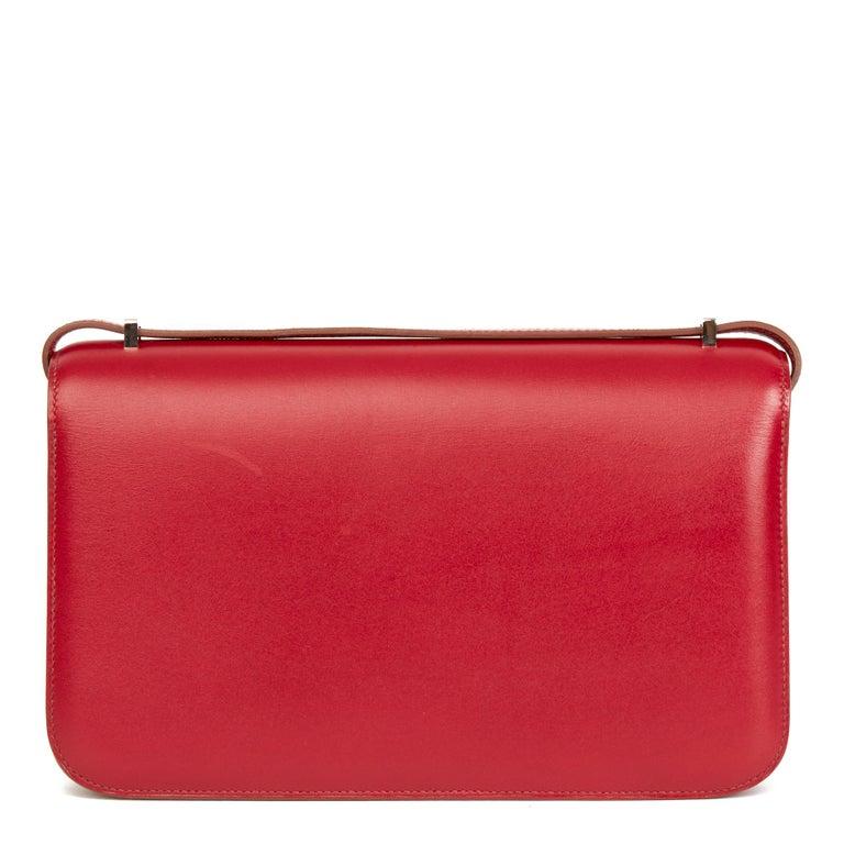 2010  Hermès Rubis Tadelakt Leather Constance Elan In Excellent Condition In Bishop's Stortford, Hertfordshire
